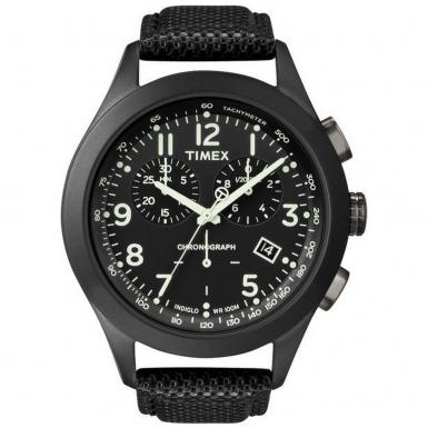 TIMEX Černý chronograf - pánské 5e4a7206ee
