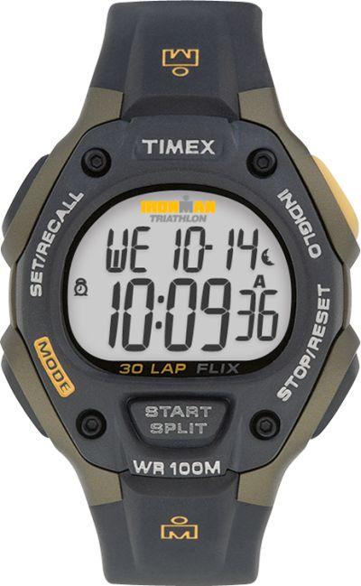 Timex Ironman černé 30Lap látkový řemínek 9878fa0b8f