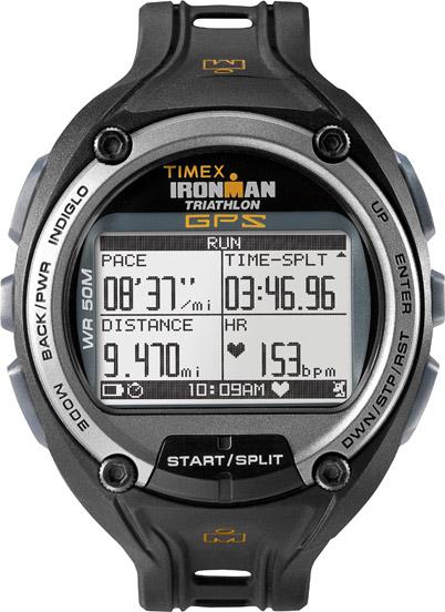 01738581e TIMEX® T5K444 Ironman® Global Trainer GPS * USB připojení * Dobíjecí  Lithium-Ion baterie (15 hodin v GPS Mode) * Vodotěsnost 50m - vhodné na  plavání